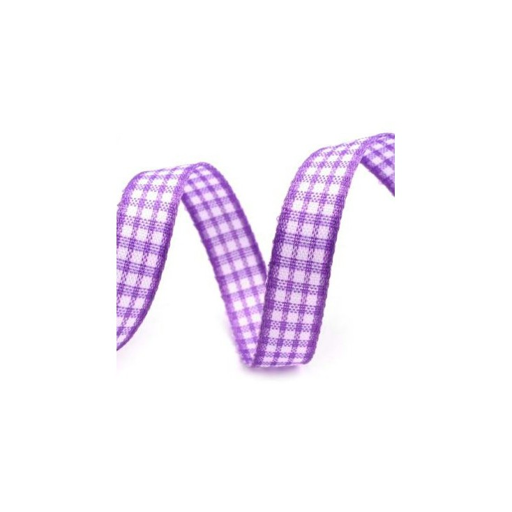 Checkered ribbon - 1 meter - violet