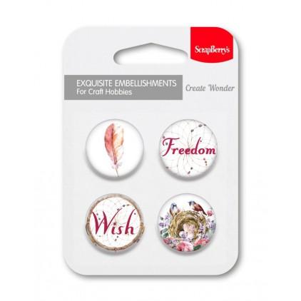 Selfadhesive buttons/badge - Primavera