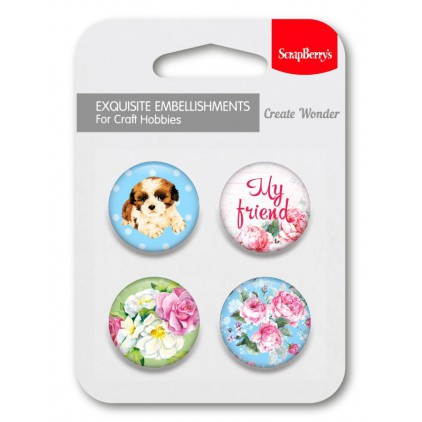 Selfadhesive buttons/badge - My friend 1