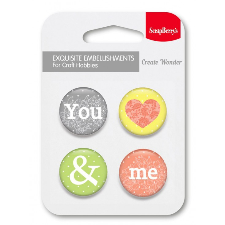 Selfadhesive buttons/badge - The Art Of Nature 1