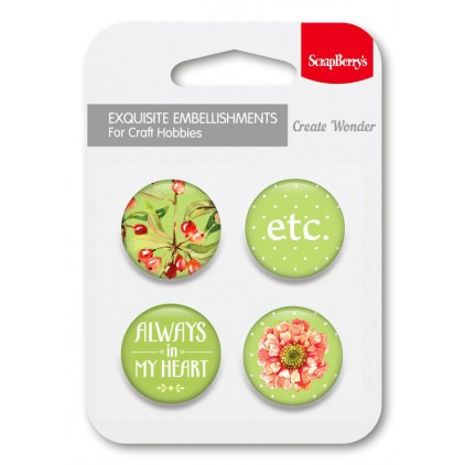 Selfadhesive buttons/badge - The Art Of Nature 3