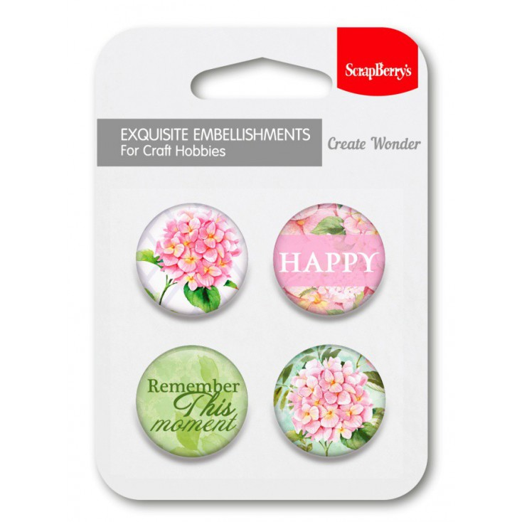 Selfadhesive buttons/badge - In Bloom 01
