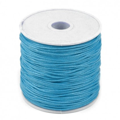 Waxed twine - Turquoise - Ø1mm - one spool