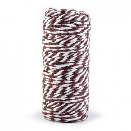 Decorative Cotton Cord Ø1.5 mm - brown-white