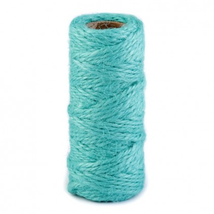 Natural Sisal String Ø2 mm - turquoise