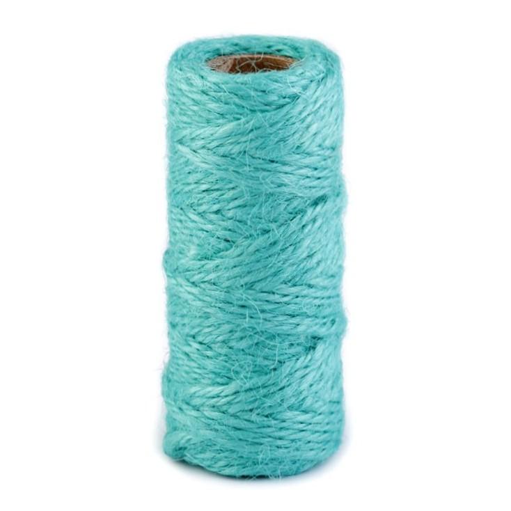 Natural Sisal String Ø2 mm - turquoise