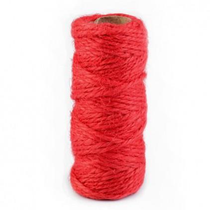 Sznurek sizalowy - Ø2 mm - czerwony