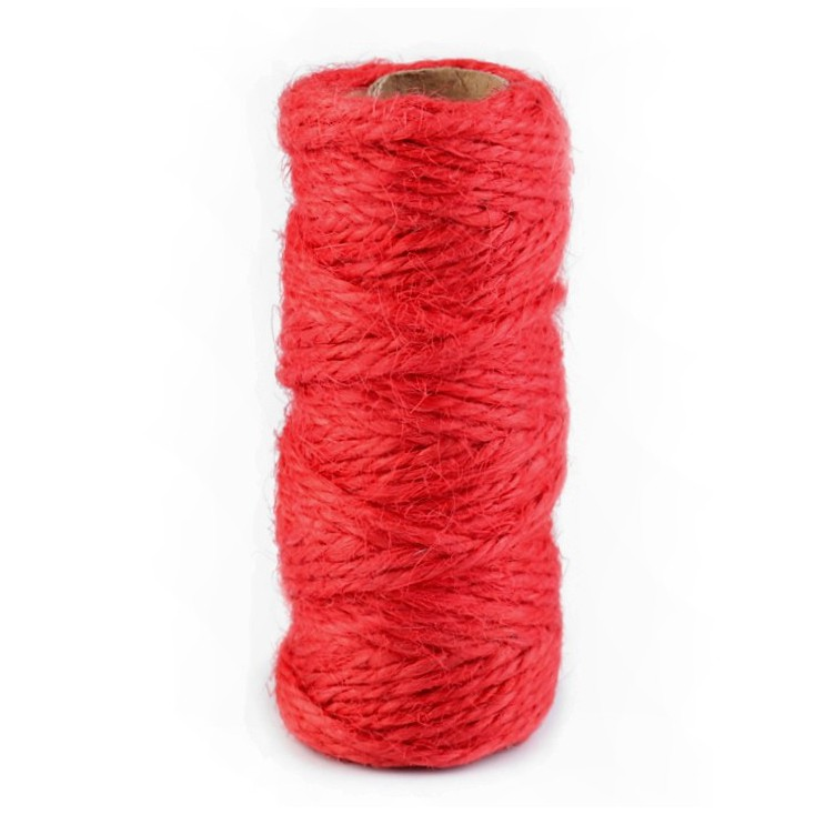 Natural Sisal String Ø2 mm - red