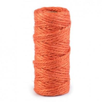 Sznurek sizalowy - Ø2 mm - porańczowy