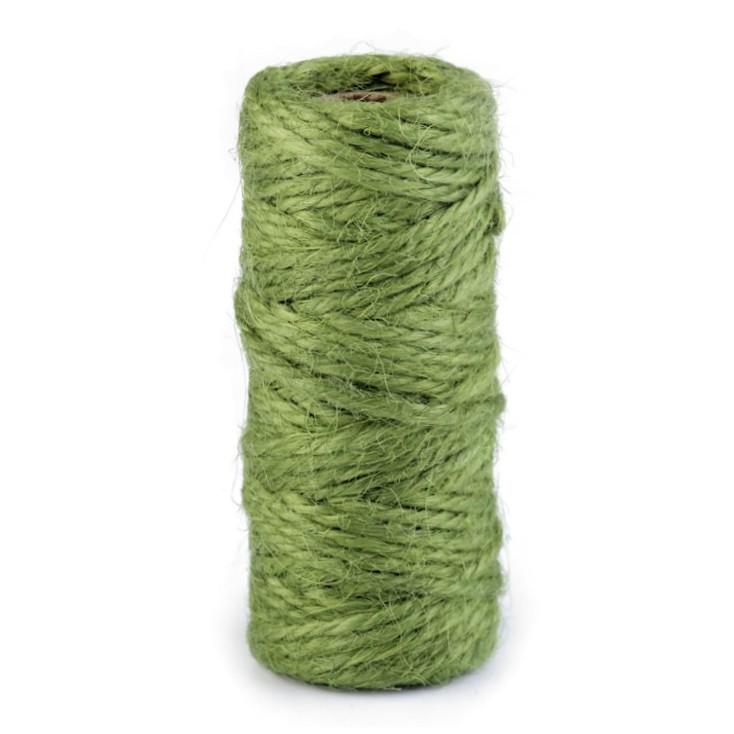 Sznurek sizalowy - Ø2 mm - oliwkowy