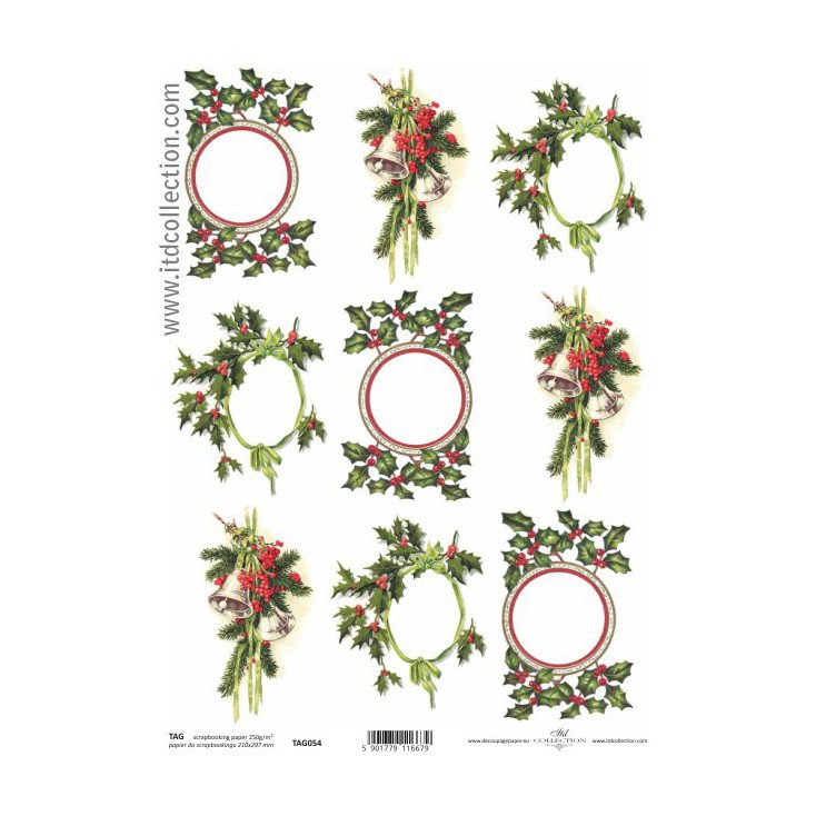 ITD Collection - Papier do scrapbookingu - TAG054