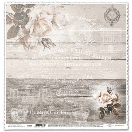 Papier vintage brązowy do scrapbookingu - ITD Collection SCL512