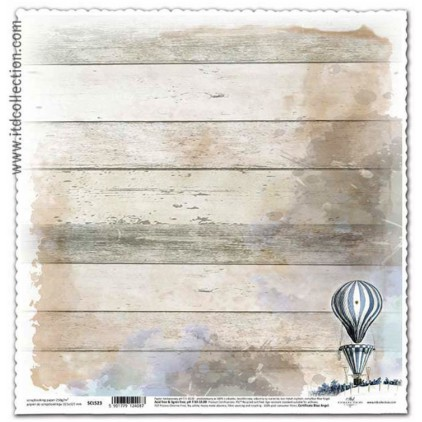 Papier vintage do scrapbookingu balon - ITD Collection SCL523
