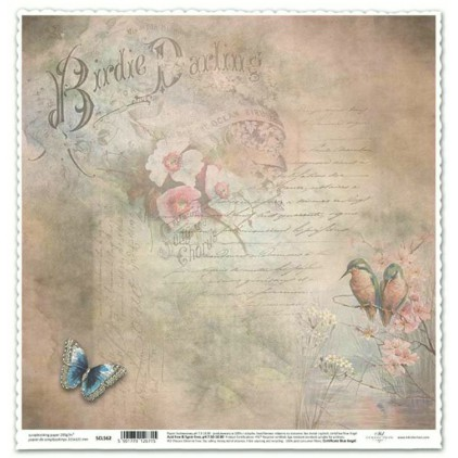 papier vintage pismo do scrapbookingu -ITD Collection SCL562