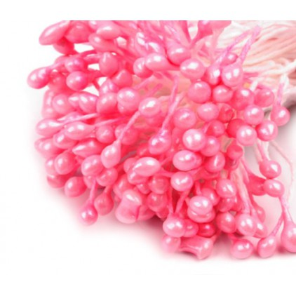 Pearlized Flower Stamen - pink - one bunch