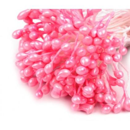 Pręciki do kwiatków - różowe - pęczek