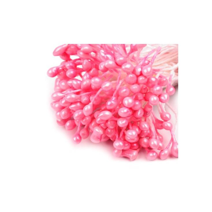 Pręciki do kwiatków - perłowe - pęczek