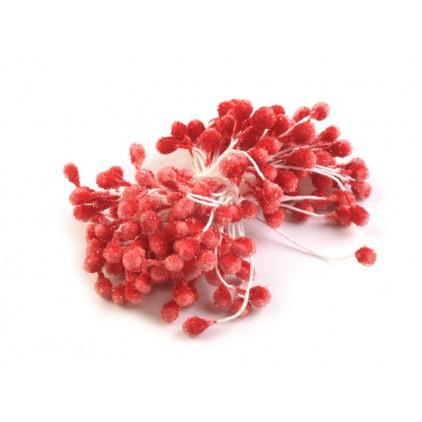 Pręciki do kwiatków oszronione - cenober - pęczek