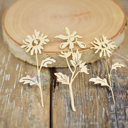 Miszmasz Papierowy - Tekturka - Jesienne kwiatki
