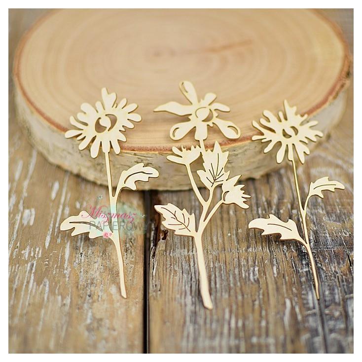 Miszmasz Papierowy - Cardboard element - Small leaves - 3 pcs