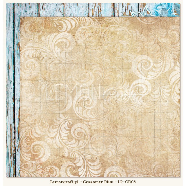 Double sided scrapbooking paper - Gossamer Blue 03