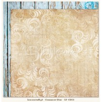 Double sided scrapbooking paper - Gossamer Blue 03