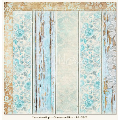 Double sided scrapbooking paper - Gossamer Blue 02