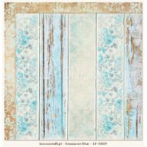 Double sided scrapbooking paper - Gossamer Blue 02