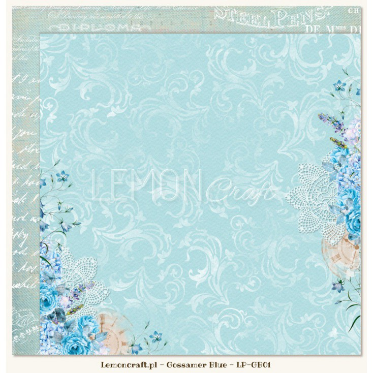 Double sided scrapbooking paper - Gossamer Blue 01