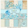 Stack of basic scrapbooking papers - Gossamer Blue