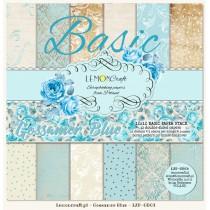 Stack of basic scrapbooking papers - Gossamer Blue