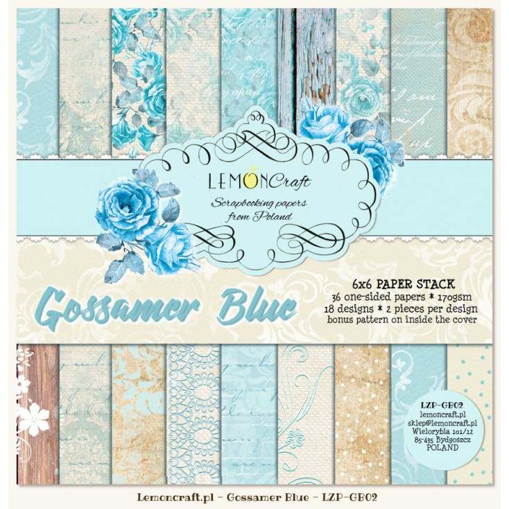 Pad of scrapbooking papers - Gossamer Blue 6x6