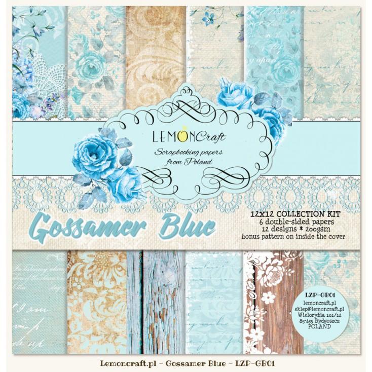 Zestaw papierów do scrapbookingu - Gossamer Blue
