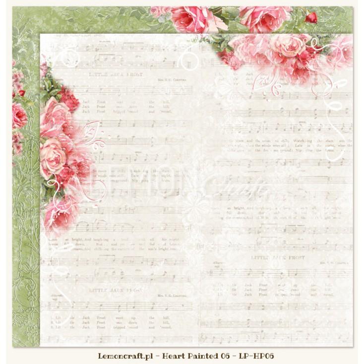 Dwustronny papier do scrapbookingu - Sercem Malowane 06