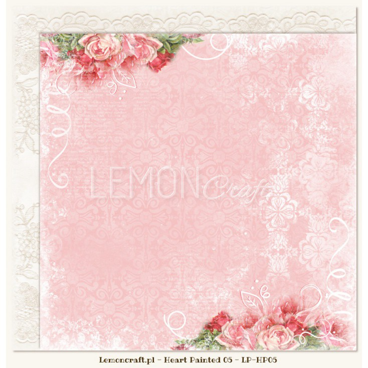 Double sided scrapbooking paper - Heart Painted 05