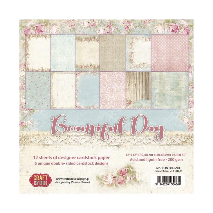 Craft and You Design - Zestaw papierów do scrapbookingu - Beautiful Day