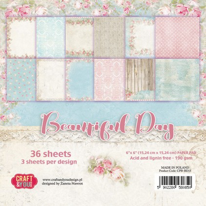 Pad of scrapbooking papers - Craft and You Design - Beautiful Day