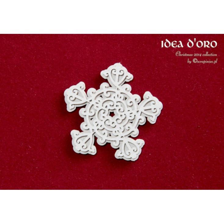 Scrapiniec - Cardboard elements - Idea d'oro - 2-layers snowflake