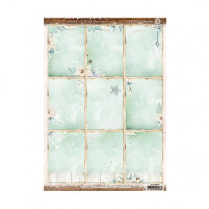 Studio Light - Papier do scrapbookingu - Sweet Winter ATC 01 - Arkusz A4