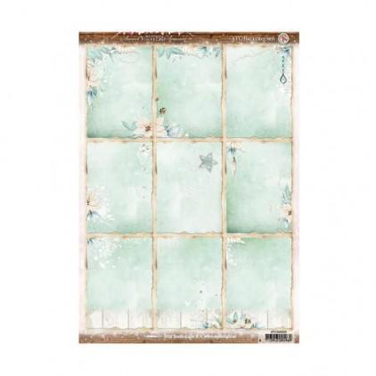 Studio Light - Scrapbooking paper - Sweet Winter ATC 01 - A4 Sheet