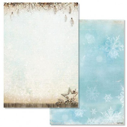 Studio Light - Scrapbooking paper - Winter Memories 202 - A4 Sheet