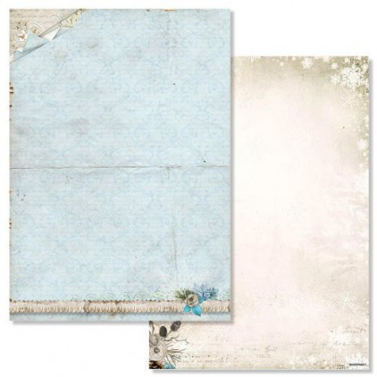 Studio Light - Papier do scrapbookingu - Winter Memories 201 - Arkusz A4