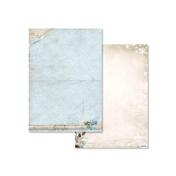 Studio Light - Scrapbooking paper - Winter Memories 201 - A4 Sheet