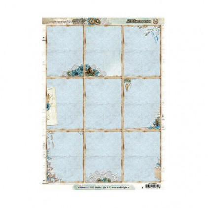 Studio Light - Scrapbooking paper - Winter Memories ATC 01 - A4 Sheet