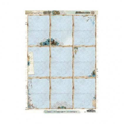 Studio Light - Scrapbooking paper - Winter Memories ATC 01 - A4 Sheet