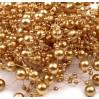 Perełki na żyłce silikonowej Ø7mm długość 130cm - złote
