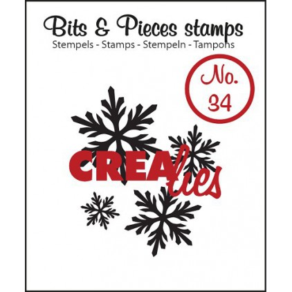 Clear stamp - Snowflake 4 - Crealies - Bits & Pieces no. 34