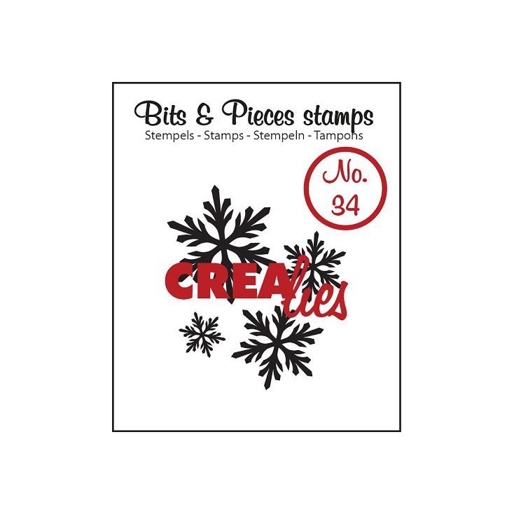 Stempel silikonowy - Śnieżynki 4 - Crealies - Bits & Pieces no. 34