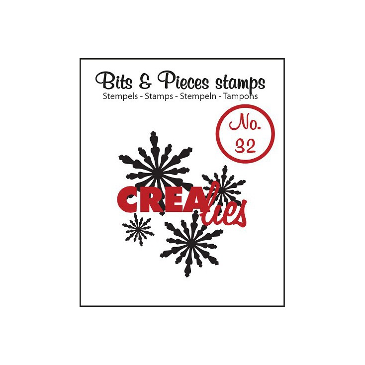 Clear stamp - Snowflakes 2 - Crealies - Bits & Pieces no. 32