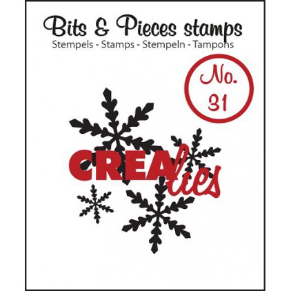 Clear stamp - Snowflakes 1 - Crealies - Bits & Pieces no. 31